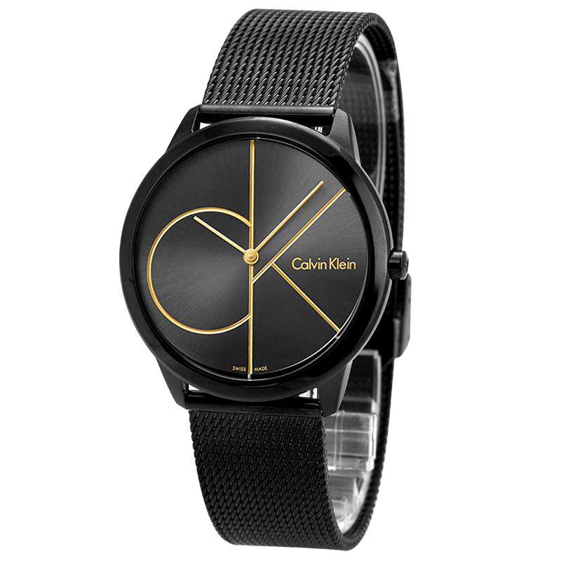 CalvinKlein watch new black woven casual flagship couple quartz men and women watch K3M214X1 kasper women s replenishment woven skirt 12p black