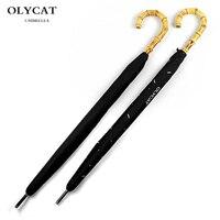 Hot Sale Brand Large long Umbrella Men Retro Bamboo Rattan Curved Handle Quality Rain Umbrella Strong Windproof Anti UV Parasol