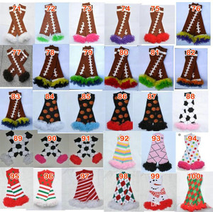 Image 3 - 200styles Baby Ruffled Leg Warmers Infant Xmas Halloween Holiday chiffon ruffle Leggings warm knee pads