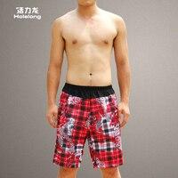 Summer new men's casual beach pants loose high elastic belts influx of men and men in five home pajamas