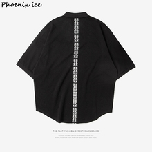 Brand men's clothing 2017 spring and summer high street original lapel sweater lengthened round arc oversize beads to men