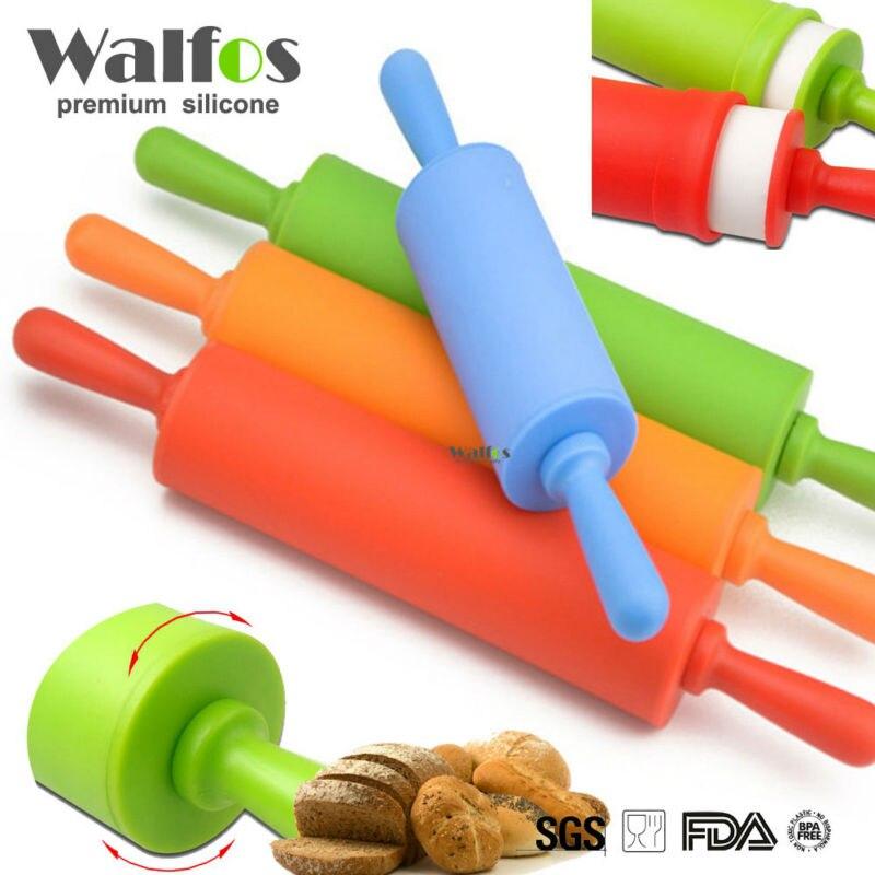 WALFOS 22 см антипригарным помадка Скалка Для детей Фондант торт Тесто ролика отделка торт ролик ремесла выпечки инструмент приготовления пищи