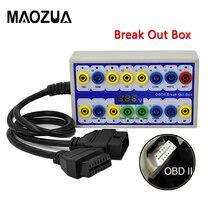 Profesjonalny Auto samochód OBD 2 pole wyjścia OBD2 Breakout Box OBD OBDII protokół detektor złącze diagnostyczne detektor