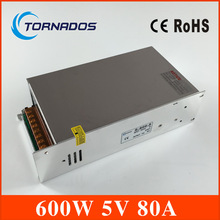 led power supply 5v 80A power unit supply industrial switching LED driver free shipping