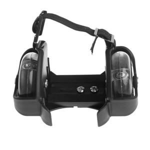 Image 4 - Children Wheel Heel Roller Light Adjustable Skates Kid Falsh Blade Shoe Strap  selling