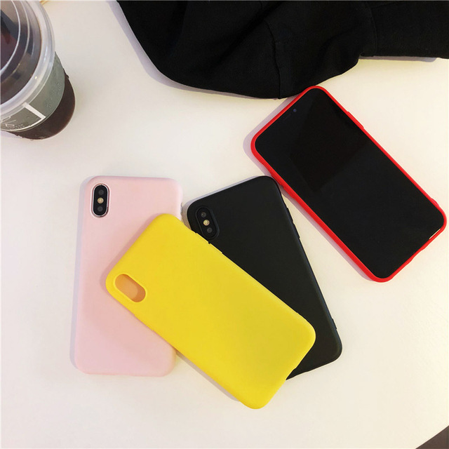 Simple Color Silicone Cute Phone Case For iPhone 4