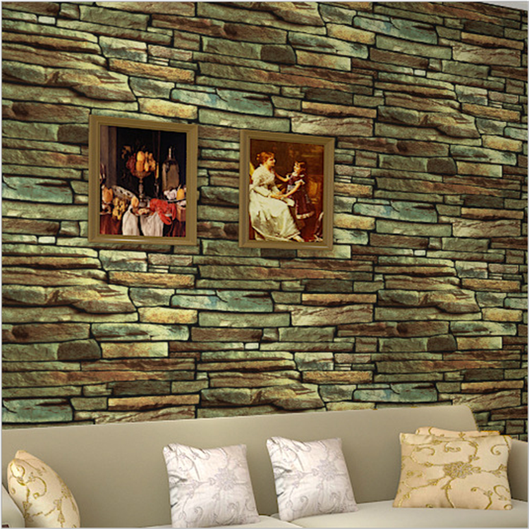 Vintage Brick Stone Wallpaper for Living Room TV Backsplash Wall Decor 10m/roll PVC Stick Paper Coffee Shop Bar Retro Wallpapers wallpaper for walls 3 d modern trdimensional geometry 4d tv background wall paper roll silver gray wallpapers for living room