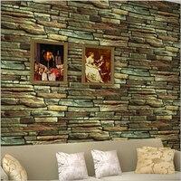 Vintage Brick Stone Wallpaper for Living Room TV Backsplash Wall Decor 10m/roll PVC Stick Paper Coffee Shop Bar Retro Wallpapers