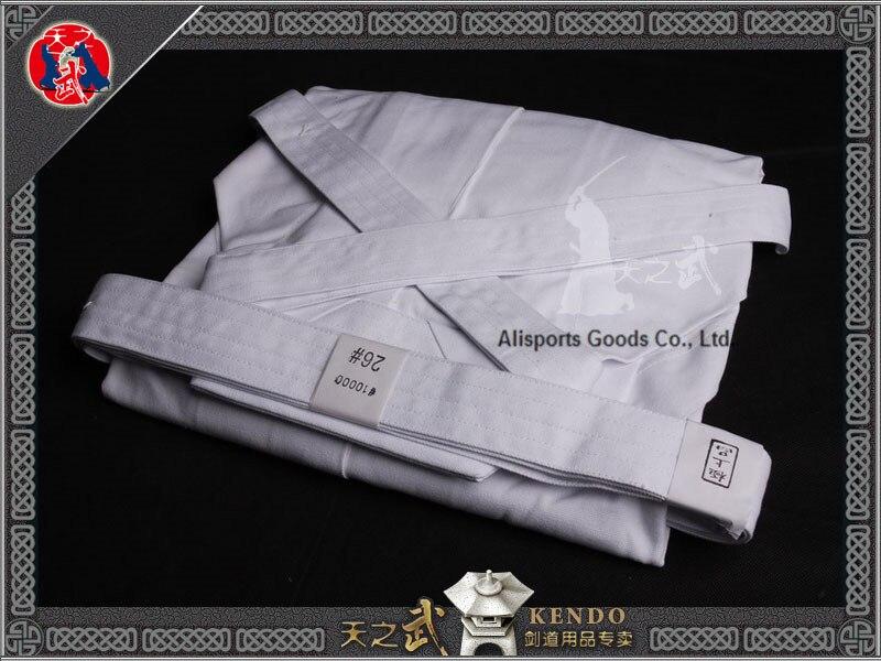 Top Qualität 10000 # 100% Baumwolle Weiß Kendo Iaido Aikido Hakama - Fitness und Bodybuilding - Foto 2
