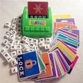 Máquina de aprendizaje, aprender inglés de Word Puzzle juguete, juguetes educativos para niños, alfabetización bebé divertido juego, inglés tarjetas de aprendizaje