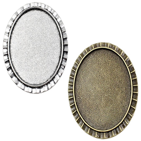 Fit 30x40mm Antique Silver Brooch Cameo/Glass/Cabochon Frame Bezel Settings,Brooch,DIY Accessory Base Charm 3pcs/lot K04637