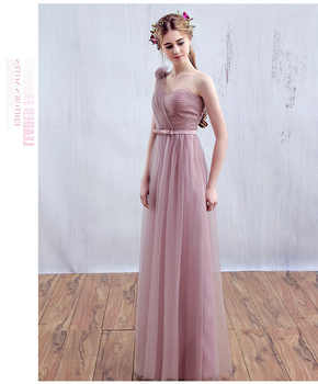 Vestido SSYFashion One Shoulder Floor-length Long Bridesmaid Dresses Birde Simple Formal Party Gown Custom Homecoming Dresses