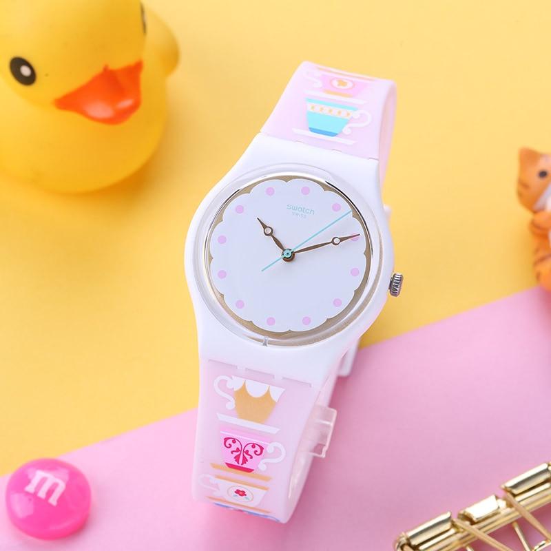 Swatch Classic color password series Flowery quartz watch for men and women GW191 цена и фото