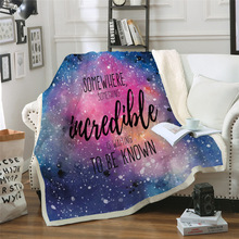 Sofa cushion Yoga mat Blanket Air Conditioner Blanket Thick Double-layer Plush 3D Digital Printed Blanket Star Series недорого