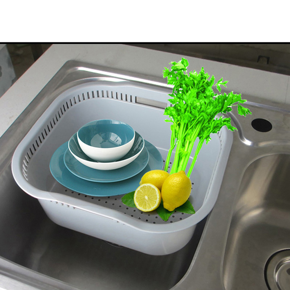 Us 8 Talea Kitchen Sink Accessories Drain Plastic Basket Pp Baeket Tray Dish Drainer Dryingqd005 In Drains Strainers