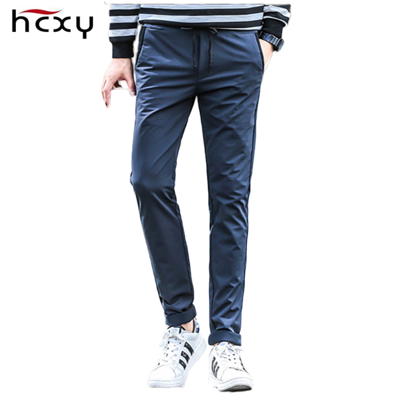 2017 summer Comfortable casual pants men Brand clothing Long Pants for men High quality Spring street male Lacing Trousers цена