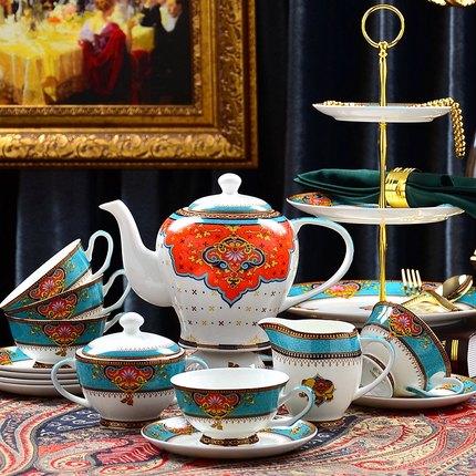 European tea cup coffee cup set Simple bone china coffee set afternoon tea set black tea cup ceramic mug Exquisite gift box