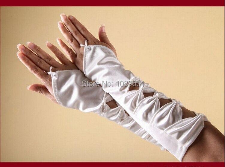 2014 New Arrival Wedding Gloves Stock Elegant Fingerless White/Ivory Bridal Gloves Wedding Dress Fashion Wedding Accessories
