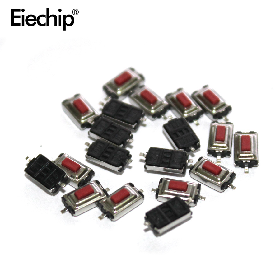 New Original 100PCS 3*6*2.5 Mm 3*6*2.5H SMD Red Button Switch Key Switch Tact Switch