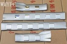 Aço inoxidável Interior Porta Placa do Peitoril Da Guarnição 4 pcs para Nissan X Trail-X trail T31 2008 2009 2010 2011 2012 2013