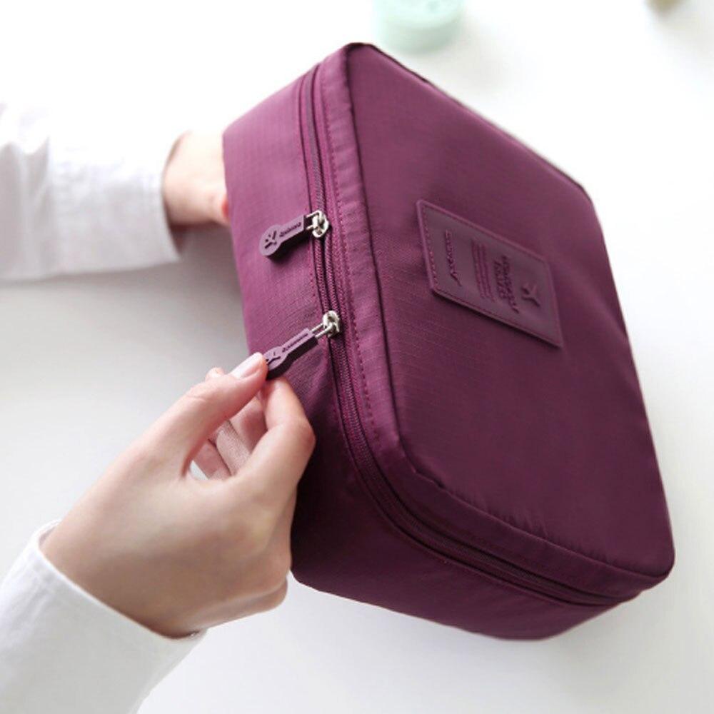 New Upgrade 8 Colors Organizer Bag Multi Functional Make Up Bag Cosmetic Bags Storage Women Men