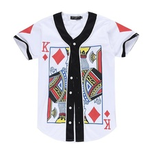 Tops Hip Hop Men/ladies V-neck Short Sleeve Summer T-shirt 3d Print Poker Diamond Okay Funny tshirts With Buttons Clothes S-XXL R221