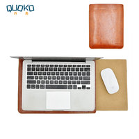 Laptop bag case Microfiber Leather Sleeve for Lenovo ThinkPad X1 Extreme 15.6 Dual Pocket with Exterior Mouse Pad
