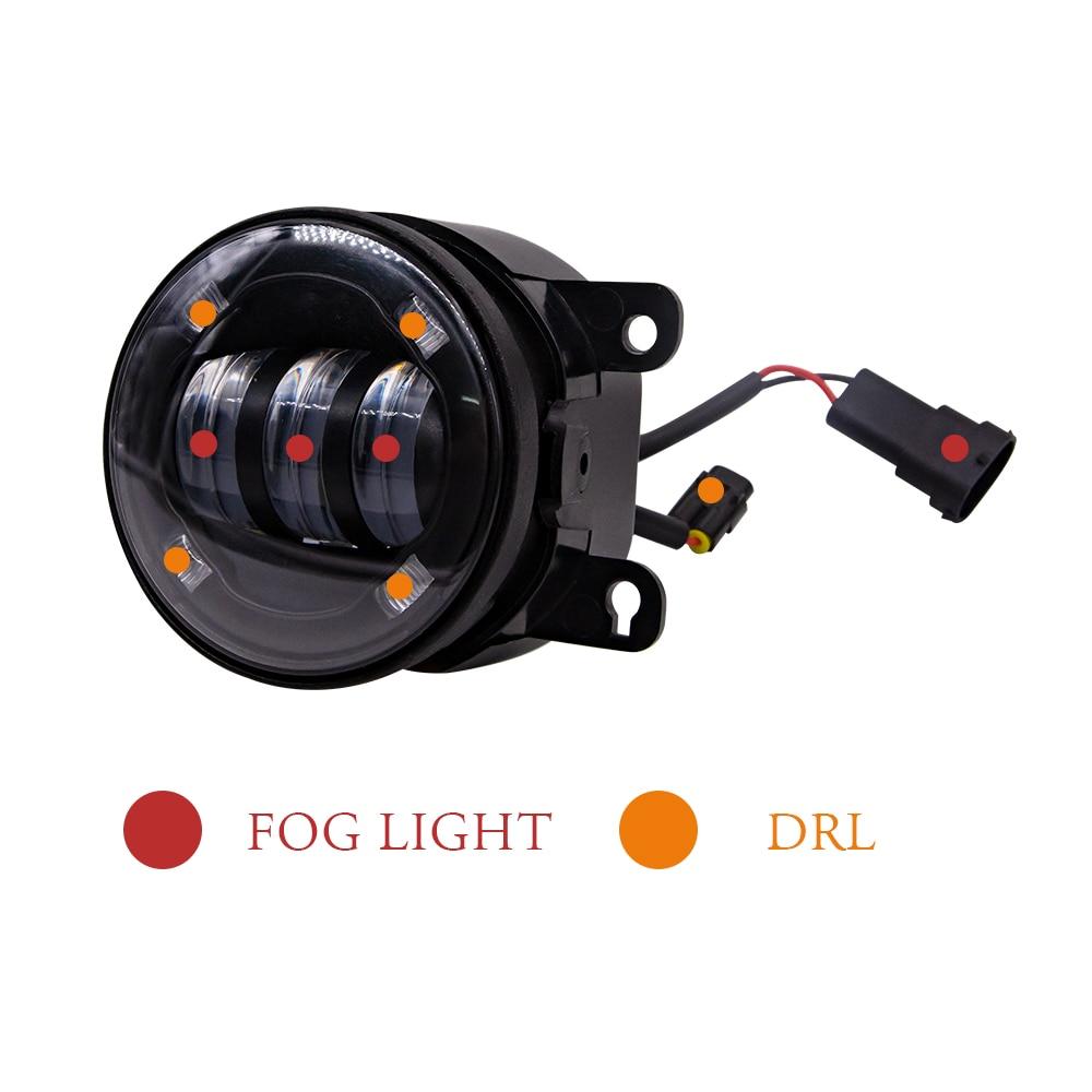 6000k Bright White LED SMD Canbus Fog Foglight Bulbs Jeep Wrangler JL 2018+