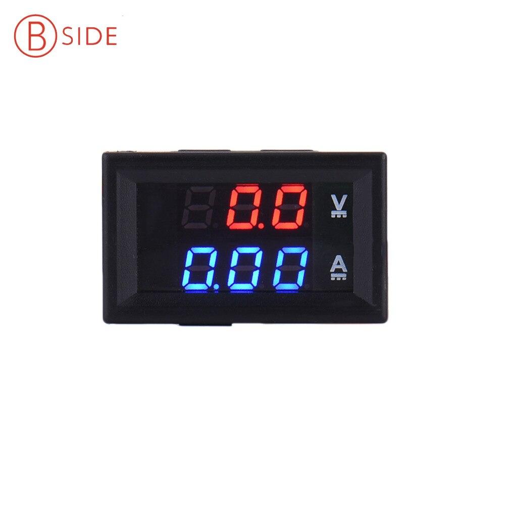 Mini Digital Voltmeter Ammeter DC 100V 10A Panel Amp Volt Current Meter Tester 0 28 Blue