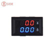 Mini Digital Voltmeter Ammeter DC 100V 10A Panel Amp Volt Current Meter Tester 0.28″ Blue Red Dual LED Display Free Shipping