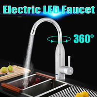 360 Degree Fast Heating Home Kitchen Instant Electric Water Heater Hot Cold Mixer Faucet Adjustable Faucet Tap LED Display