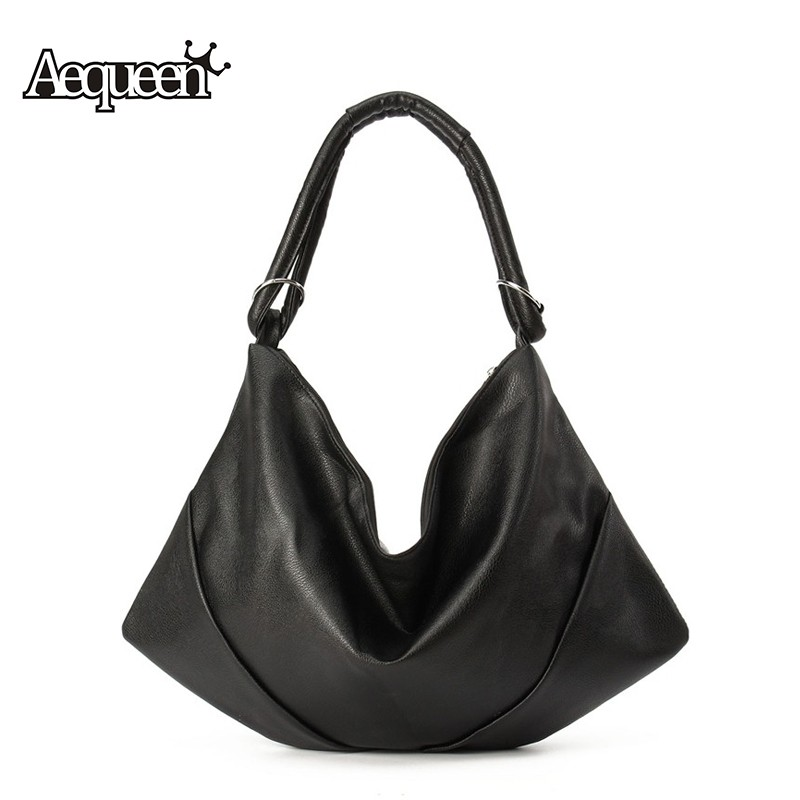 2016 Women's Handbags Luxury Shoulder Bags Hobos Designer Hand For Women Black PU Leather Ladies Large Capacity Toteas