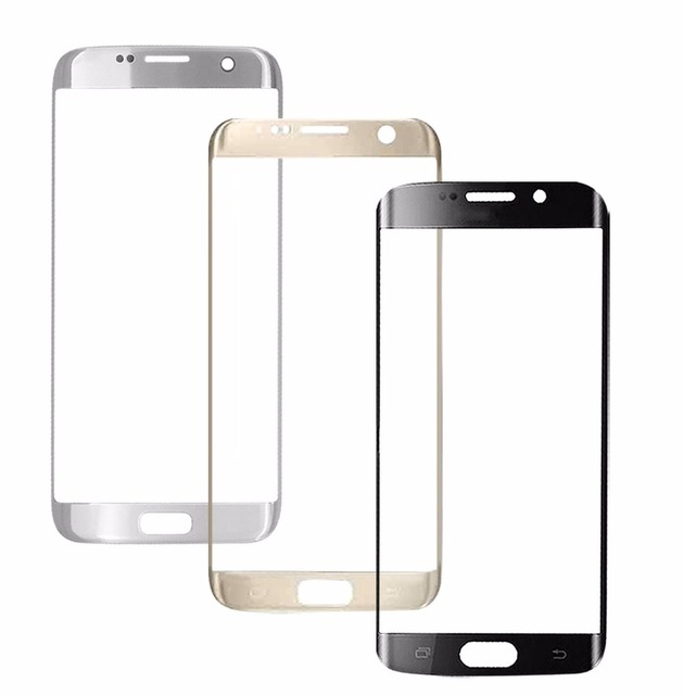 A++ New Front Outer Glass Lens Screen  Replacement For Samsung Galaxy S7 Edge G935 G935F free shipping