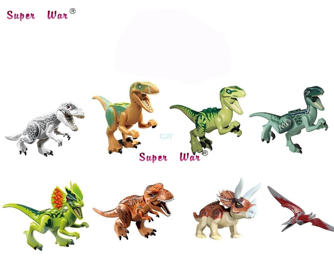 1/Set 77001 Jurassic World Dinosaur World Pteranodon D-REX Tyrannosaurs Rex Bricks Models Building blocks Toys for Children 37 cm tyrannosaurus rex with platform dinosaur mouth can open and close classic toys for boys animal model without retail box