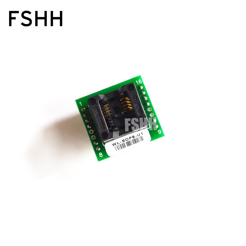 WL-SOP8-U1 Adapter For Wellon Programmer Adapter 150mil SOP8 To DIP8 Adapter IC Test Socket