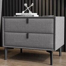 Высококачественная мягкая кожаная деревянная прикроватная тумбочка, журнальный диван, прикроватная тумбочка, мебель, тумбочка, шкаф для спальни