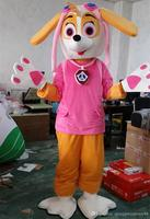 Patrol Skye dog Mascot costume Adult Size Red dog cartoon costume party fancy dress Factory Direct Sale With high Quality