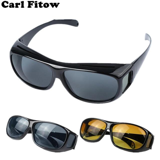 2dad05bd566ec Alta Qualidade de Condução Visão HD Noite Lente Amarela Óculos Motorista  óculos de Sol óculos de