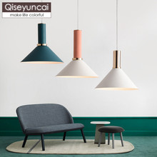 Qiseyuncai Nordic postmodern restaurant combination single head chandelier simple creative corridor aisle iron lamps