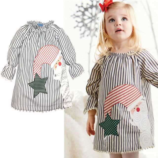 0-5Y Baby Girls Kids Casual Xmas Cotton Blend Tutu Dress Kläder - Barnkläder - Foto 3