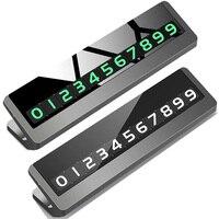 Araba Geçici Park Kartı telefon tutucu Dönebilen Telefon Numarası Araba Styling Aydınlık Telefon Numarası Plaka Araba Sticker