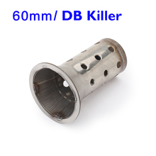 60mm Universal Motorcycle Exhaust Muffler DB Killer Stainless Steel Silencer Insert 60.5mm Escape Can