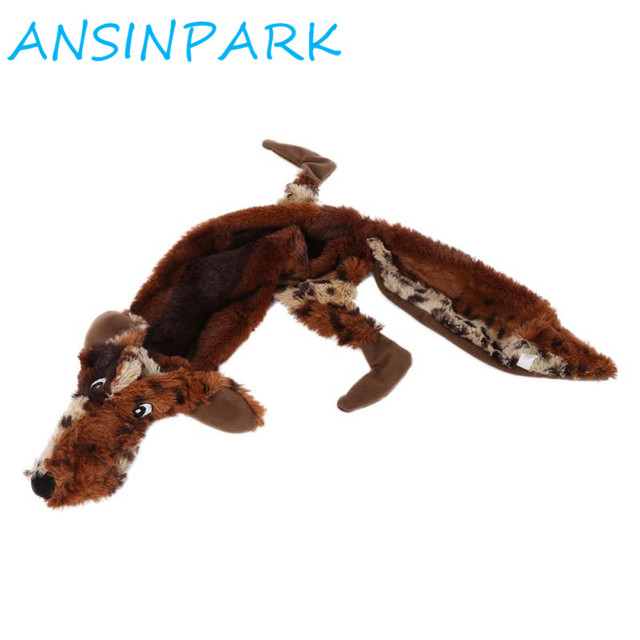 ANSINPARK cute plush toys squeak pet wolf rabbit animal plush toy dog chew squeaky whistling involved squirrel dog toys G666 4