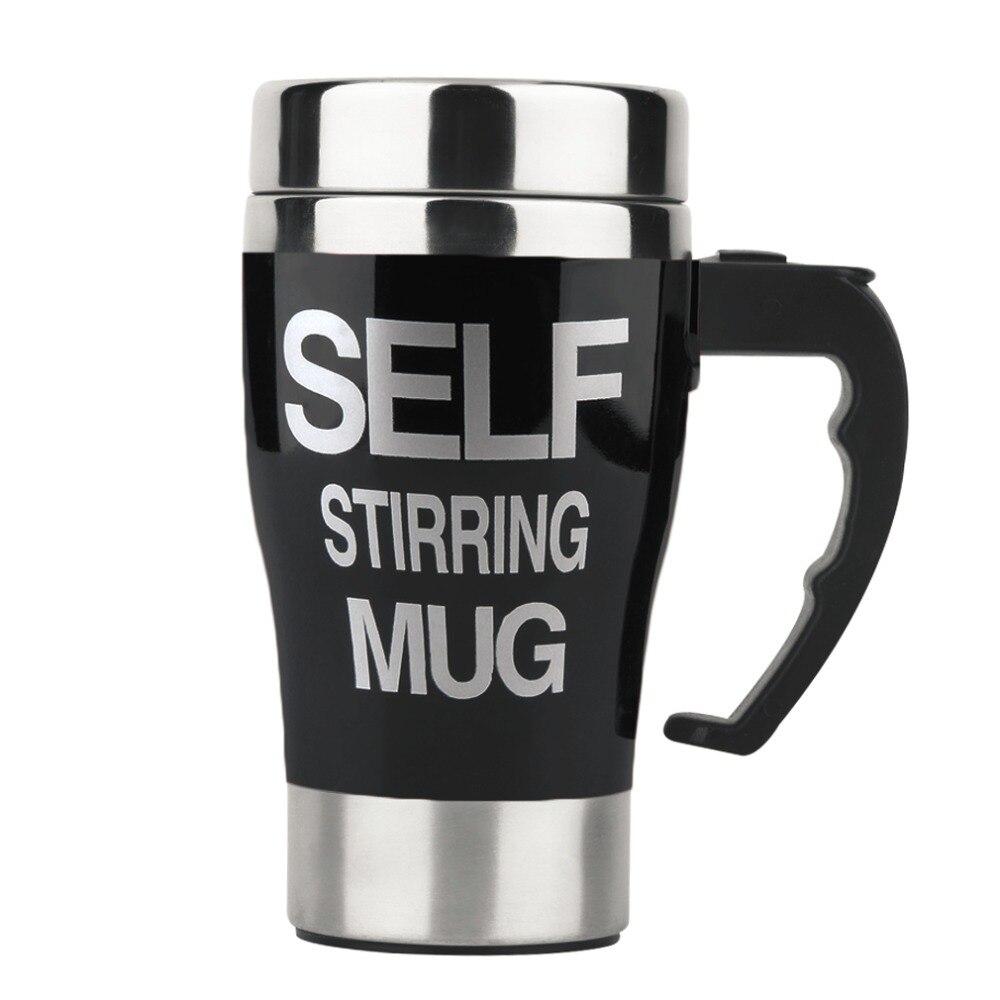6 colors Stainless Steel Lazy Self Stirring Mug Auto Mixing Tea Milk Coffee Mug Office Home Gift