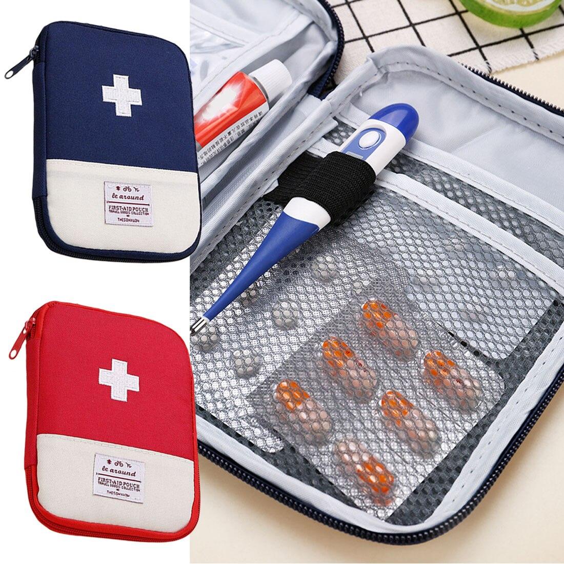 Bolsa médica de emergencia de primeros auxilios para acampar al aire libre, caja de pastillas para medicamentos, estuche de almacenamiento para Kit de supervivencia en el hogar, pequeña bolsa de supervivencia