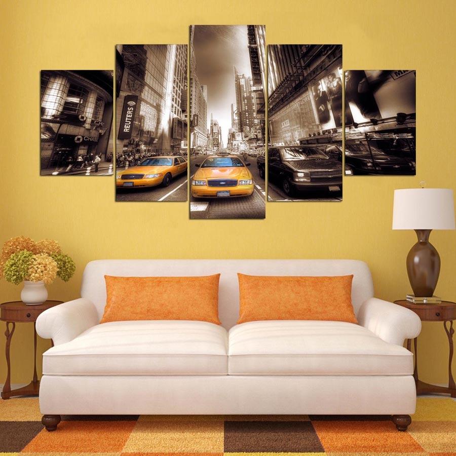 Modern Frame For Painting Modern 5 Panel Building Decor Canvas Art ...