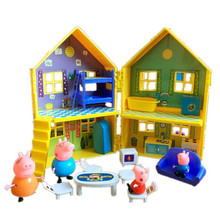 Peppa Pig Family Toys Doll Aircraft Sports Car House Full Roles Action Figure Model Educational For Kids Children Gifts fashion aircraft peppa pig doll toys family full roles action figure model children gifts