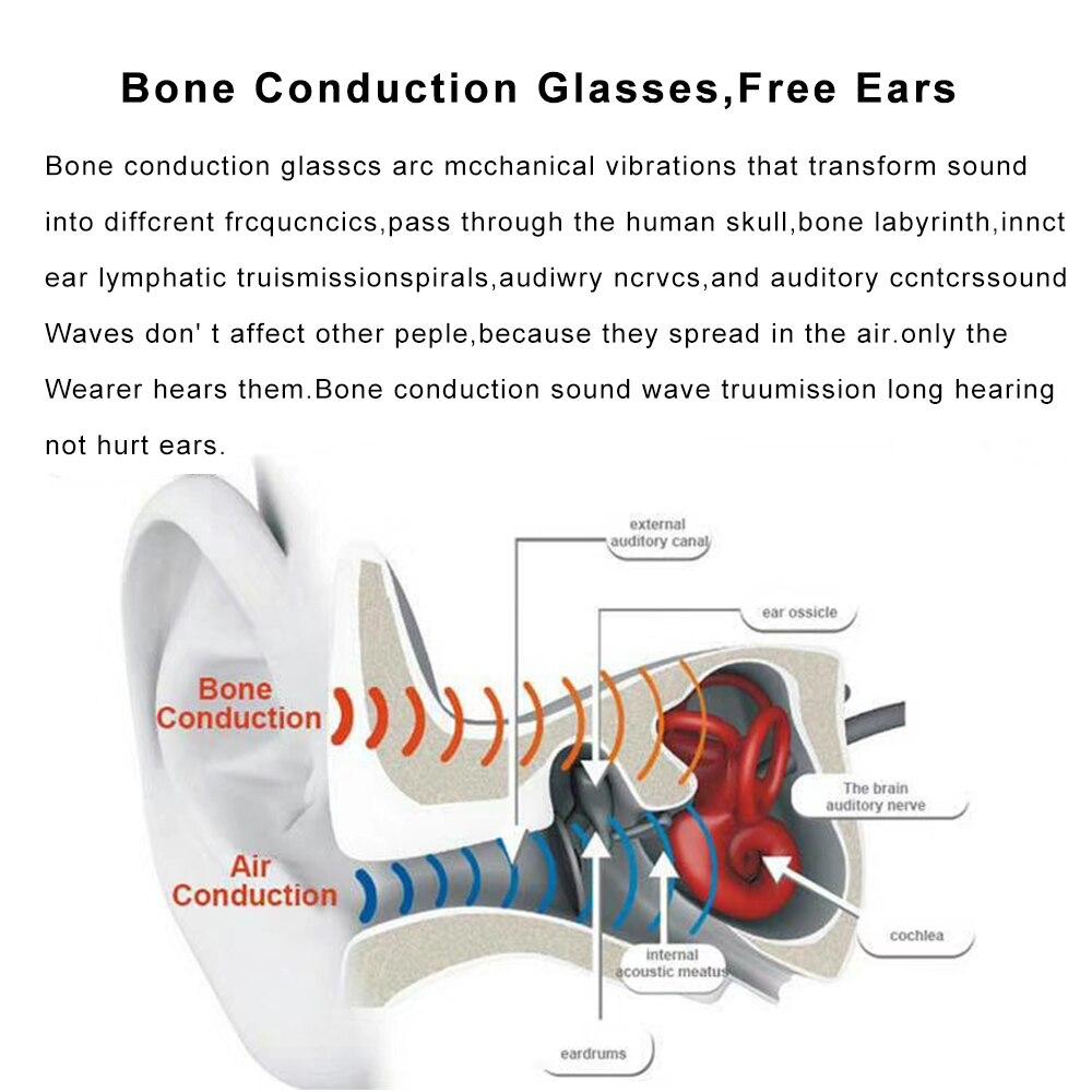 Conduction osseuse Bluetooth écouteur Sport intelligent lunettes de soleil sans fil stéréo musique lunettes de soleil Sport casque casque - 3