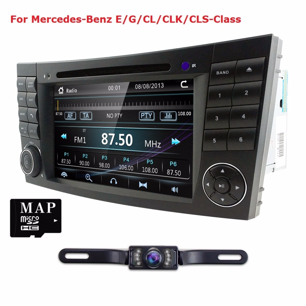 2Din Car DVD GPS for Mercedes Benz w211 2002-2009 Iran 2003-2011 E-Class CL with DVD player multimedia Radio Audio navigation BT free shipping becker dvd rom dvd mechanism loader dv 01 11d for mercede w211 ntg1 comand aps navigation car audio radio systems