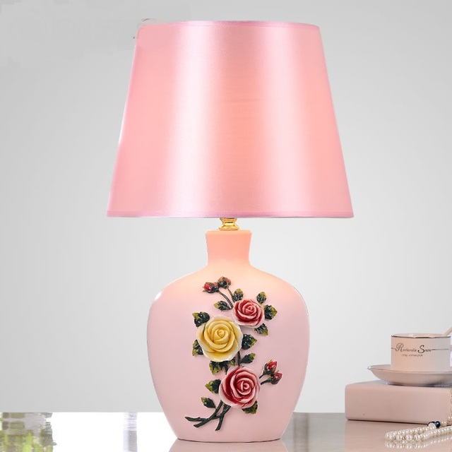 Chinese home living room table lamp stereo speakers daughter ...